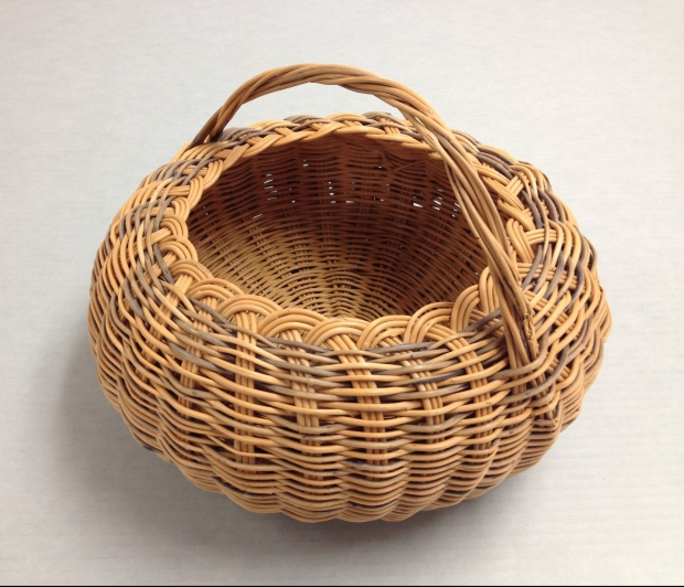 A buckbrush basket from Eastern Oklahoma.