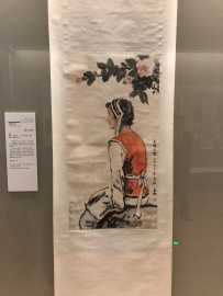 "Scenes from the paintings and caligraphy portion of the ""Tsinghua Treasures: Exhibition of Tsinghua University Art Museum Collection."" December 8, 2017. Photograph by Jason Jackson."