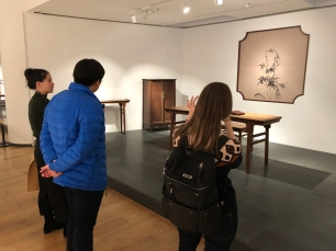 "Scenes from the furniture portion of the ""Tsinghua Treasures: Exhibition of Tsinghua University Art Museum Collection."" December 8, 2017. Photograph by Jason Jackson."