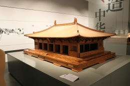 """Scenes from the exhibition """"Architecture China: Specialized Exhibition of Tsinghua Construction Discipline"""" at the Tsinghua University Art Museum. December 8, 2017. Photograph by Jon Kay."""