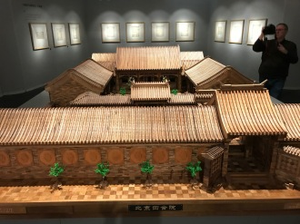 """Scenes from the exhibition """"Architecture China: Specialized Exhibition of Tsinghua Construction Discipline"""" at the Tsinghua University Art Museum. December 8, 2017. Photograph by Carrie Hertz."""