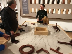 "Scenes from the furniture portion of the ""Tsinghua Treasures: Exhibition of Tsinghua University Art Museum Collection."" December 8, 2017. Photograph by Carrie Hertz."