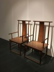 """Scenes from the furniture portion of the """"Tsinghua Treasures: Exhibition of Tsinghua University Art Museum Collection."""" December 8, 2017. Photograph by Carrie Hertz."""