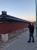 Jon Kay at the Temple of Heaven in Beijing. December 8, 2017. Photograph by Jason Baird Jackson