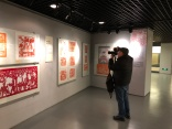 Visiting The Museum of Women and Children in Beijing. Jon Kay photographing the last bits of the women's arts exhibition before de-installation was complete. December 9, 2015. Photograph by Jason Baird Jackson.