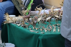 Dragons and animals for sale on the street in 798. December 9, 2017. Photograph by Jon Kay.