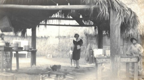 Kendall's First Visit to a Seminole Village Miami Fl Nov 14 1939